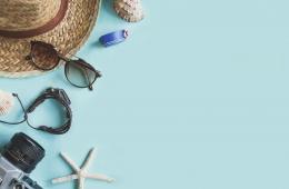 Reisen Pflegeprodukte einpacken