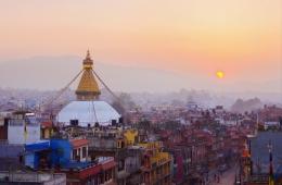 Kathmandu früher Morgen
