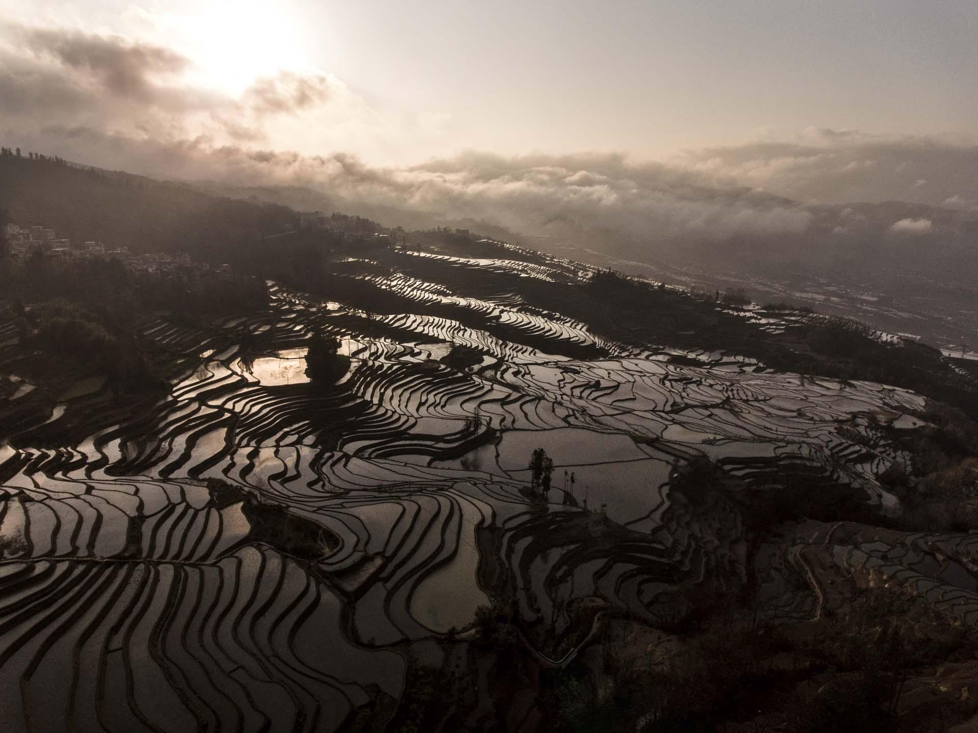 China Yunnan Yuanyang Reisterrassen 03
