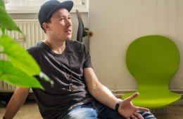Daniel beim Interview