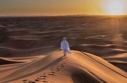 Sonnenuntergang in der Sahara